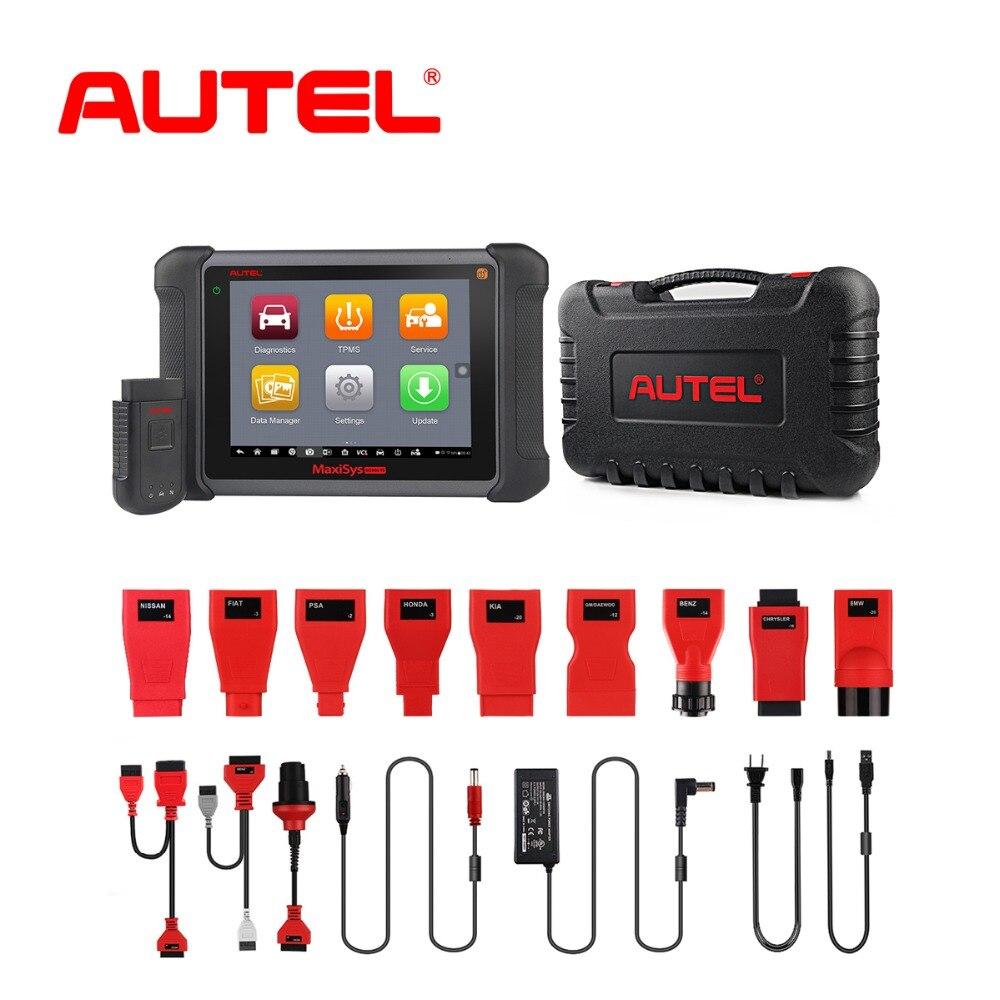 Autel MaxiSYS MS906TS OBD2 Car Diagnostic Tool Scanner Car Auto ECU Programmer Key OBD2 connector Coding TPMS brake fluid tester