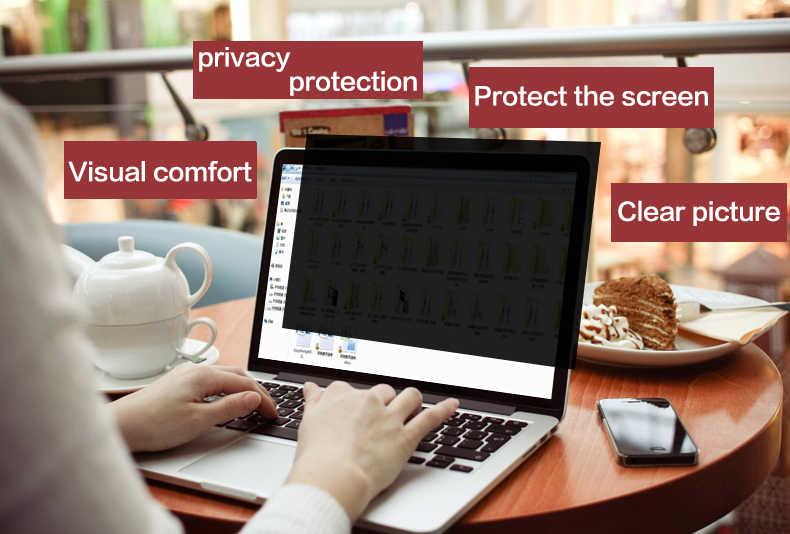 באיכות גבוהה לחיות מחמד מלא מסך פרטיות מסנן מסכי מגן סרט עבור MacBook רשתית 15 אינץ 2012-2015 מחשב נייד דגם a1398