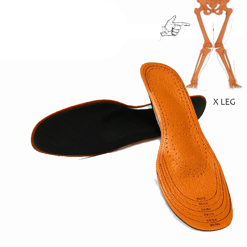 EXPfoot full length X leg foot care Pronation orthotic insole arch support orthotic insoles healthy breathable leather insole