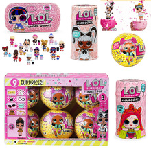 Surprise Dolls Color Change Egg Confetti pop Series Dress Lols Doll Ball Action Figure Kids Toys For Children Christmas