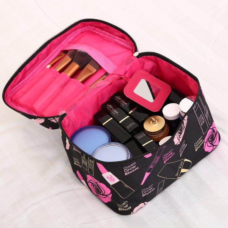 Makeup Bag Folding Travel Organizer Bag Endless Pencil Waterproof Cosmetic Bag Suitcase With Makeup Brushes Case Wash Bags 30