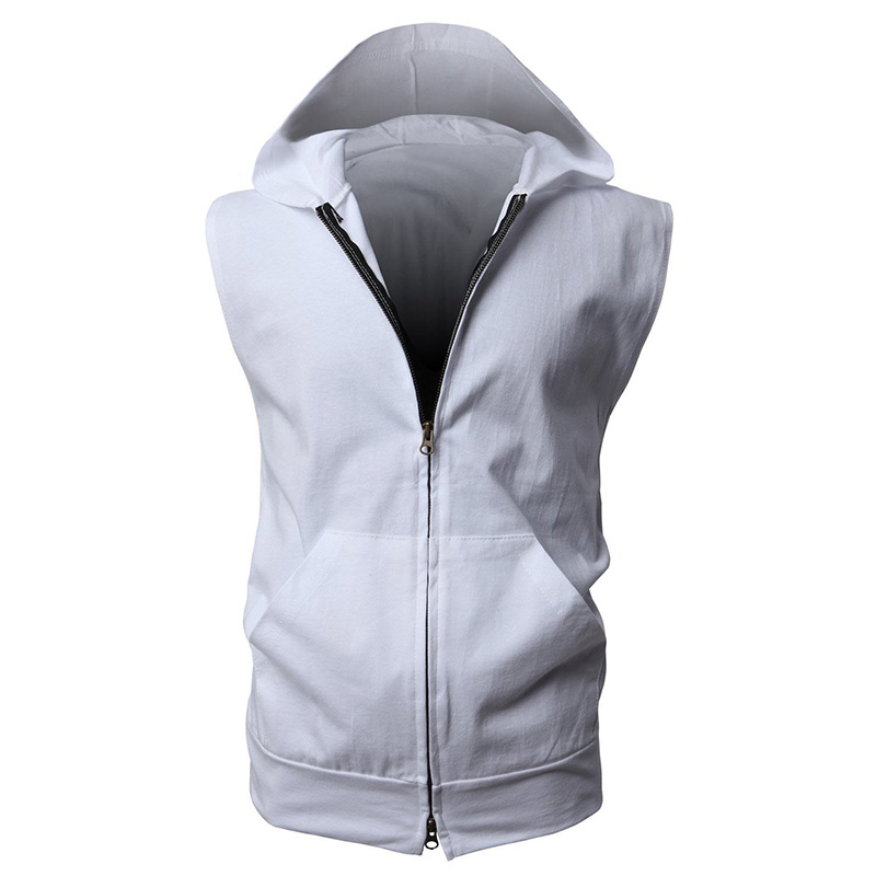 2015 New Hot Mens Hooded Vest Jacket Fashion Lightweight ...