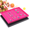 Fashion Jewelry Tray Ring Earring Case Bracelet Holder Necklace Display Pendants Plate Jewelry Storage Showcase Shelf Box