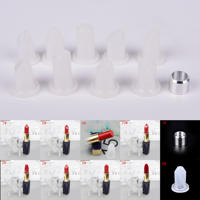 New Lipstick Diy Mold Makeup Handmade Lip Balm Mould Crafts Tools Kit Silicone 12 1mm 11