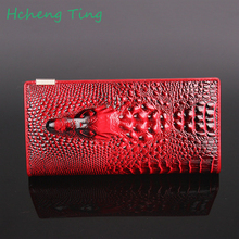 Women Wallets Alligators Genuine Leather Money Female Wallet Brand Designers New Long Bag Ladies Clutch Coin Purses & Holders