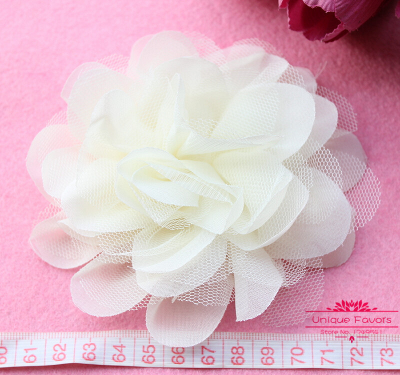 10pcs big size 49 tulle mesh chiffon flowers chic chiffon fabric 10pcs big size 49 tulle mesh chiffon flowers chic chiffon fabric flowers ivory white corsage for baby hairband hat decor in artificial dried flowers mightylinksfo Images