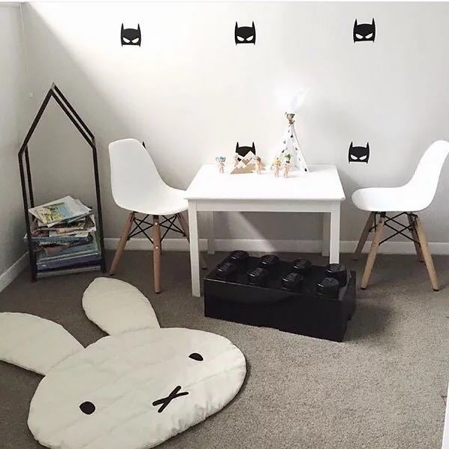 mignon lapin rampant couverture tapis de sol bebe lapin tapis de jeu enfants chambre decoration tapis