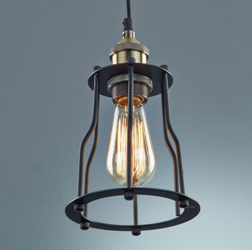Traditional Art Deco Iron pendant light lamp fixture adjustable height for home bar restaurant fashion metal pendant lights