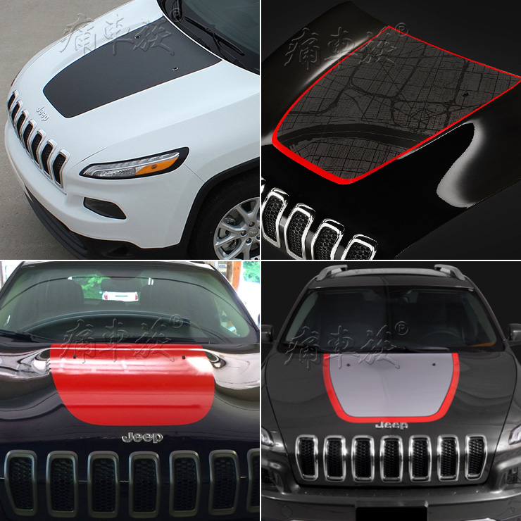 Car Boby Oem Head Car Stickers For Jeep Cherokee Black Car-Styling Decorative Film