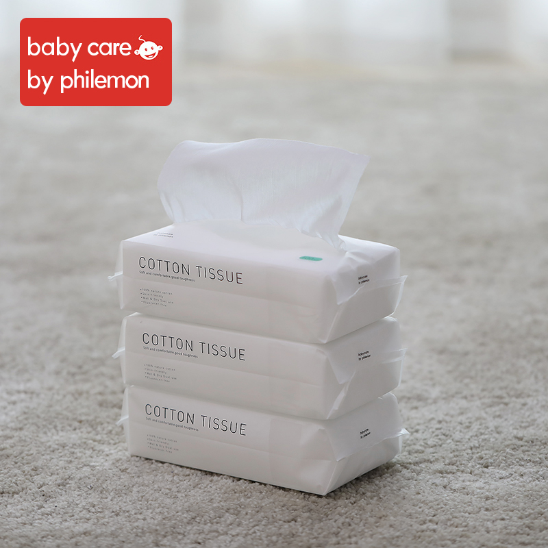 Babycare Wet Wipes Baby Hand And Mouth Wipes Without Chemical Bleach Fluroescnet Malonate Formaldehyde Thicken Cotton 3Bags/Set