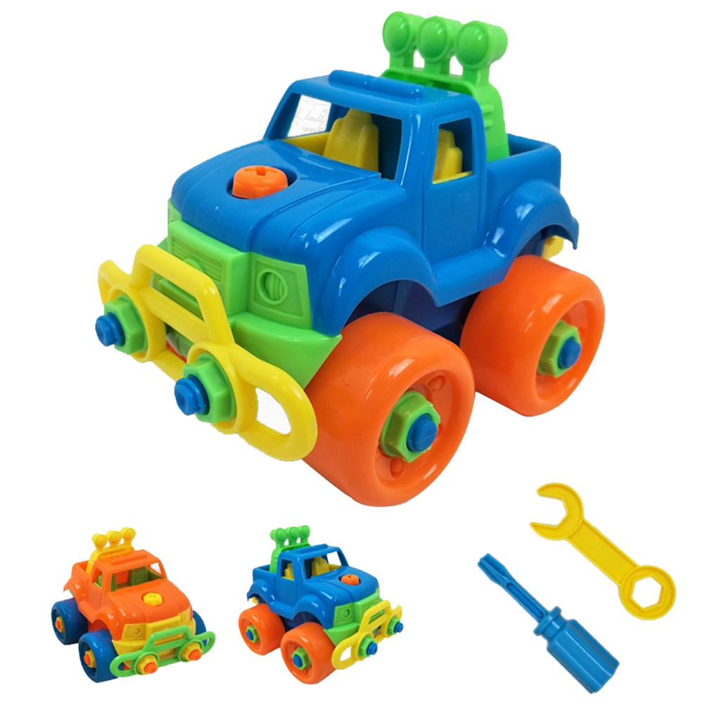 Kid DIY Nut Combination Car Plane Model Disassembly Constructor Toy Children Early Education Puzzle Supplies Blocks Plastic Toys
