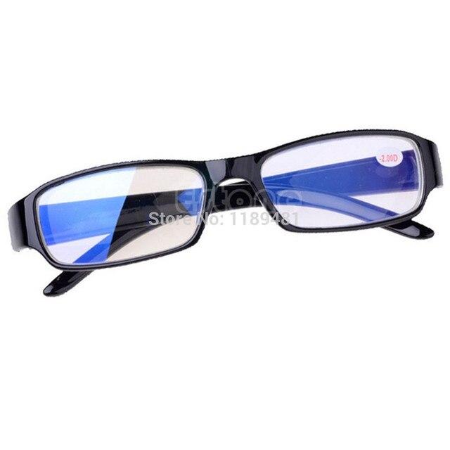 2017 New Black Eyeglass Frames Myopia Glasses -1 -1.5 -2 -2.5 -3 -3.5 -4 -4.5 -5.5 -6 Unisex Plastic Clear Nearsighted Glasses
