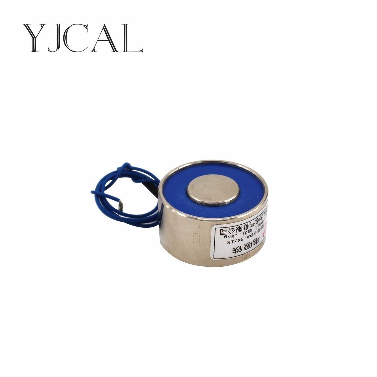 YJ- 50/42 DC 12V 24V Circular Micro Holding Electric Magnet Lifting 80KG Solenoid Sucker Electromagnet