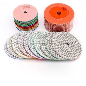 """Image 3 - 4 """"100mm 80mm 다이아몬드 습식 연마 패드 다이아몬드 연마 디스크 화강암 대리석 콘크리트 석재 연마 연삭 디스크 도구"""