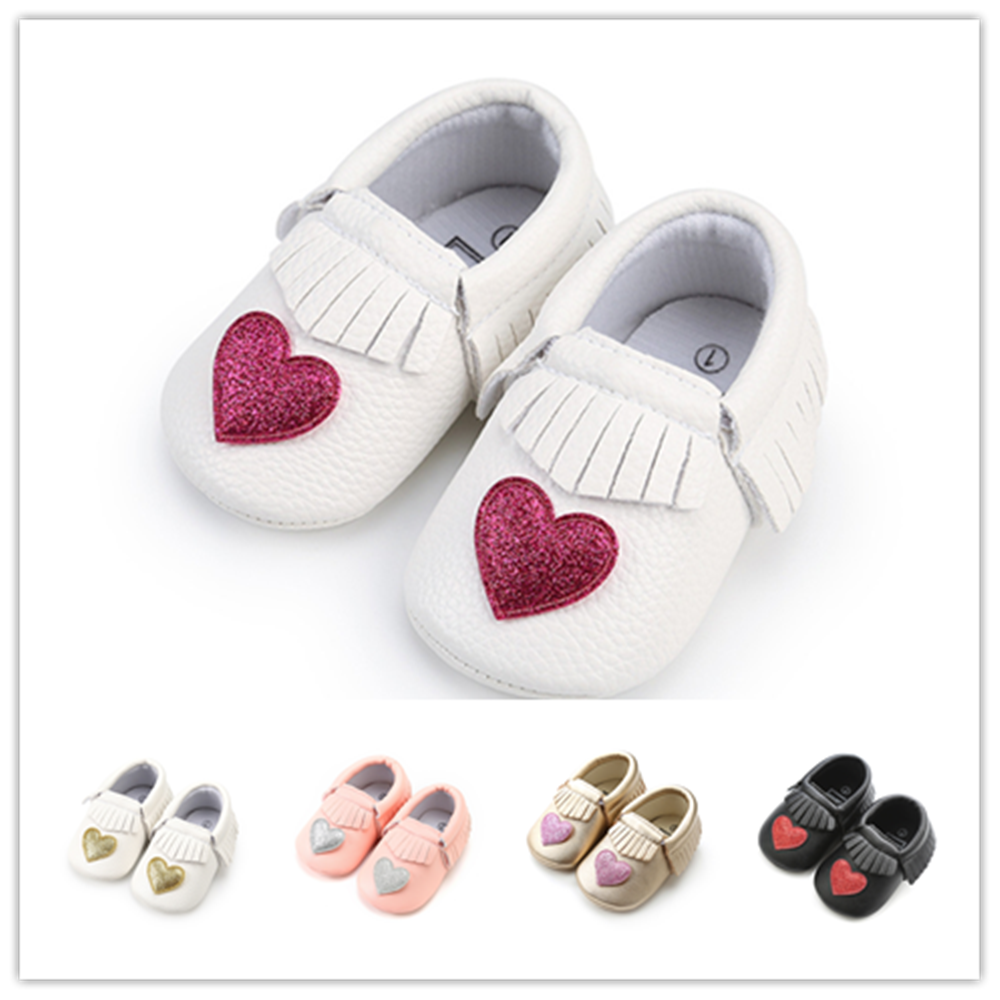 2018 New Arrival Newborn Baby Girls Shoes PU Leather Baby Moccasins Tassel Princess shoes Infant Bebe Soft Soled Shoes.CX62