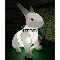 4 м/5 м/6 м светодио дный освещение белый гигантские надувные пасхальное середины осени кролика для фестиваля украшения, гигантские надувные
