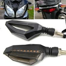 1Pcs 8mm Motorcycle Parts Double Side 12V LED 3wire Turn Signal Blinker Indicators Light Lamp For Kawasaki Suzuki Honda Yamaha