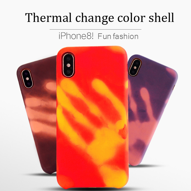 quality design 7258b 31373 US $5.99 |case for iphone x Thermal induction discoloration Protective  Shell Skin Phone Cases for apple iphone 5 5s se 6 6s 7 8 plus cover-in  Fitted ...