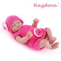 Kaydora 10 Inches Full Vinyl Reborn Doll Sleeping Cute lol bebe Realistic New Babies Bathe Partner Toys Birthday Gift For Kids