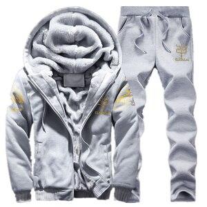 Image 2 - BOLUBAO Nuovi Uomini di Set di Marca di Modo Tuta Foderato di Spessore Felpa + Pantaloni Tuta Abbigliamento Sportivo Maschile di Inverno del Vestito