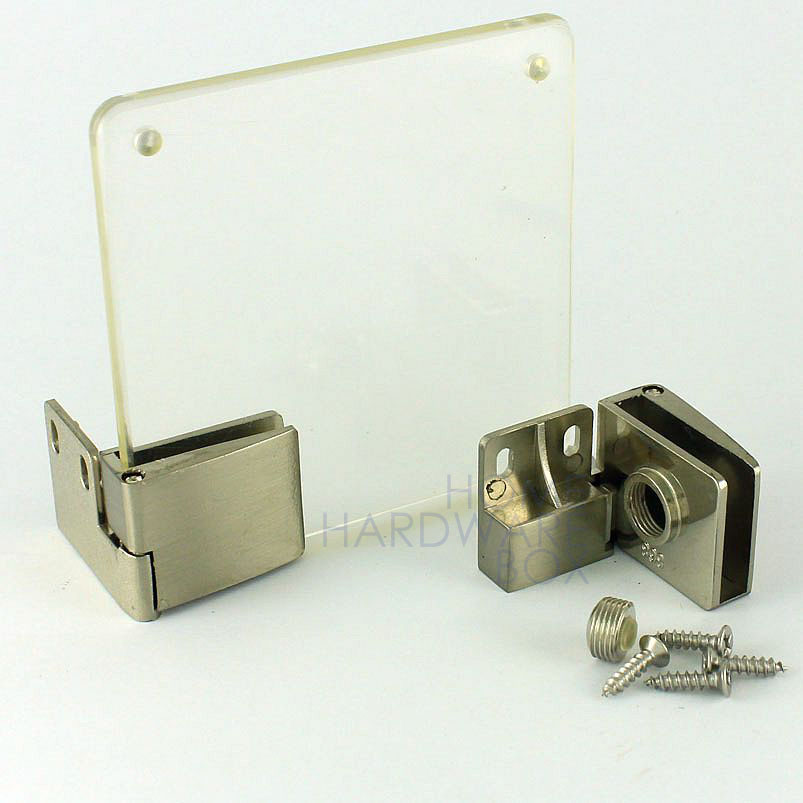 Cupboard Cabinet Show Glass Door Clamp Hinge 14 8mm Thickness