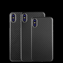 Upgrade Not Affect The Signal 100% Real Carbon Fiber Full edge Case Ultra light Cover For iPhoneX XR XS MAX 8 7 6s Carbon Case
