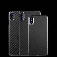 Yükseltme etkilemez sinyal 100% gerçek karbon Fiber tam kenar durumda Ultra aydınlatma koruması iphone x için XR XS MAX 8 7 6s karbon kasa