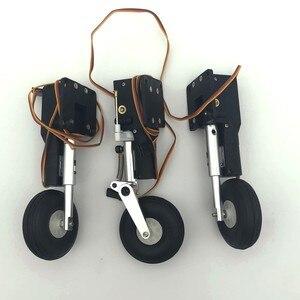 Image 2 - מתכת לחזור חשמלי הלם נספג נחיתה CNC DIY עבור rc מטוס דגם