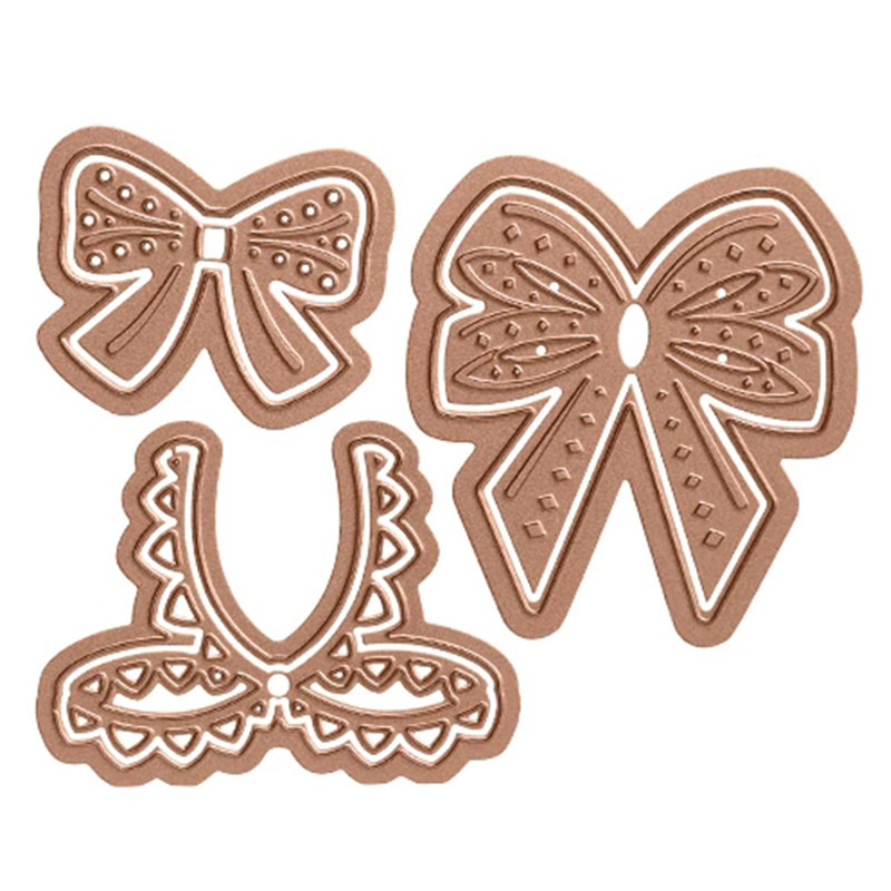 Eastshape 3pcs lot Lace Rosette Metal Cutting Dies Scrapbooking For Craft Card Making Diecut Embossing Dies New Arrival 2019 in Cutting Dies from Home Garden