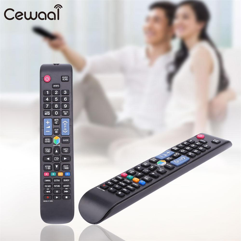 Cewaal Black Remote Control RC BN59-01198Q BN5901198Q Replacement ABS For Samsung