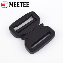 Meetee 38mm Webbing Strap Metal Quick Side Release Buckles for Dog Collar Bags Luggage Tactical Belts Clip Clothes Accessories