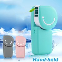 New Summer Mini Fan Cooling Portable Air Conditioning USB Charge Hand held Cool Fan USB Rechargeable Cooling Handheld Fan