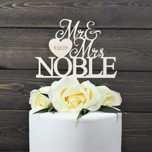 Personalized Mr&Mrs Wedding Cake Topper Last name Cake Topper For Anniversary Wedding Custom Bride and Groom Wedding Cake Decor