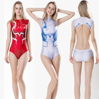 Anime DARLING in the FRANXX ICHIGO Cosplay Costume Japanese School Sukumizu Women One Piece Swimsuit Bathing Swimwear Backless