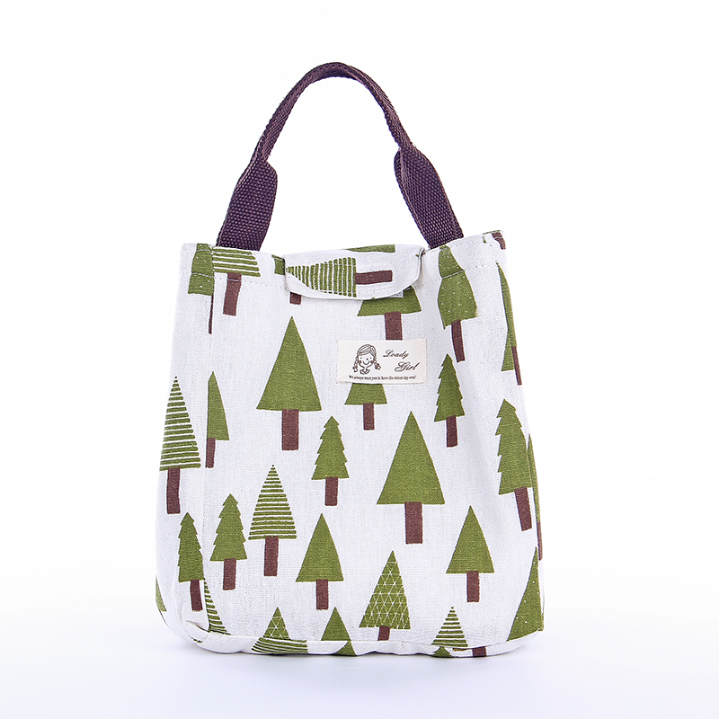 Lovely Portable Insulated Canvas Lunch Bag Thermal Food Picnic For Women Kids Cooler Travel Lunch handbag Men Bag Tote
