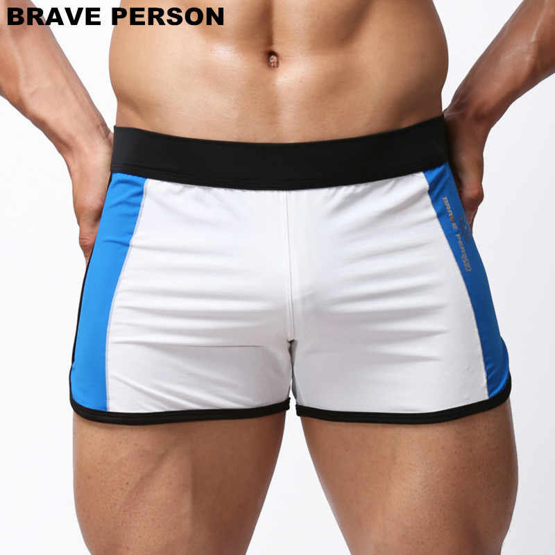 BRAVE PERSON Summer Hot Shorts Men Beachwear Shorts Men Sportwear Beach Board Shorts Smooth Soft Fabric Home Shorts Men Trunks