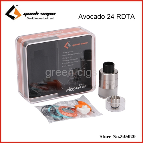Original Geekvape Avocado 24 RDTA 5.0ml Tank with Velocity Deck Support Single or Dual C ...