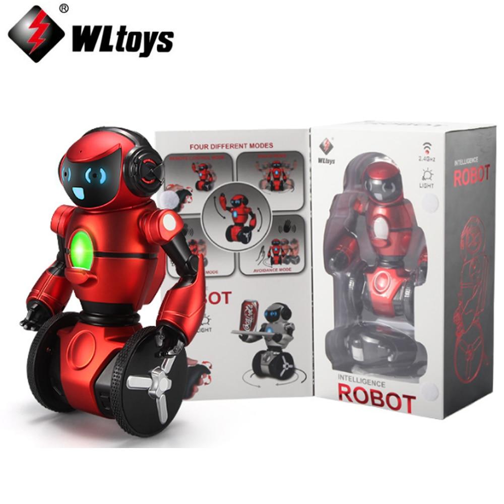 1pcs original WLtoys F1 2.4G RC Robot Toys 3-Axis Gyro Intelligent Gravity sensor Intelligent Balance RC Smart Robot Kids Toy wl f1 2 4ghz radio control electric intelligent balance g sensor rc battle robot