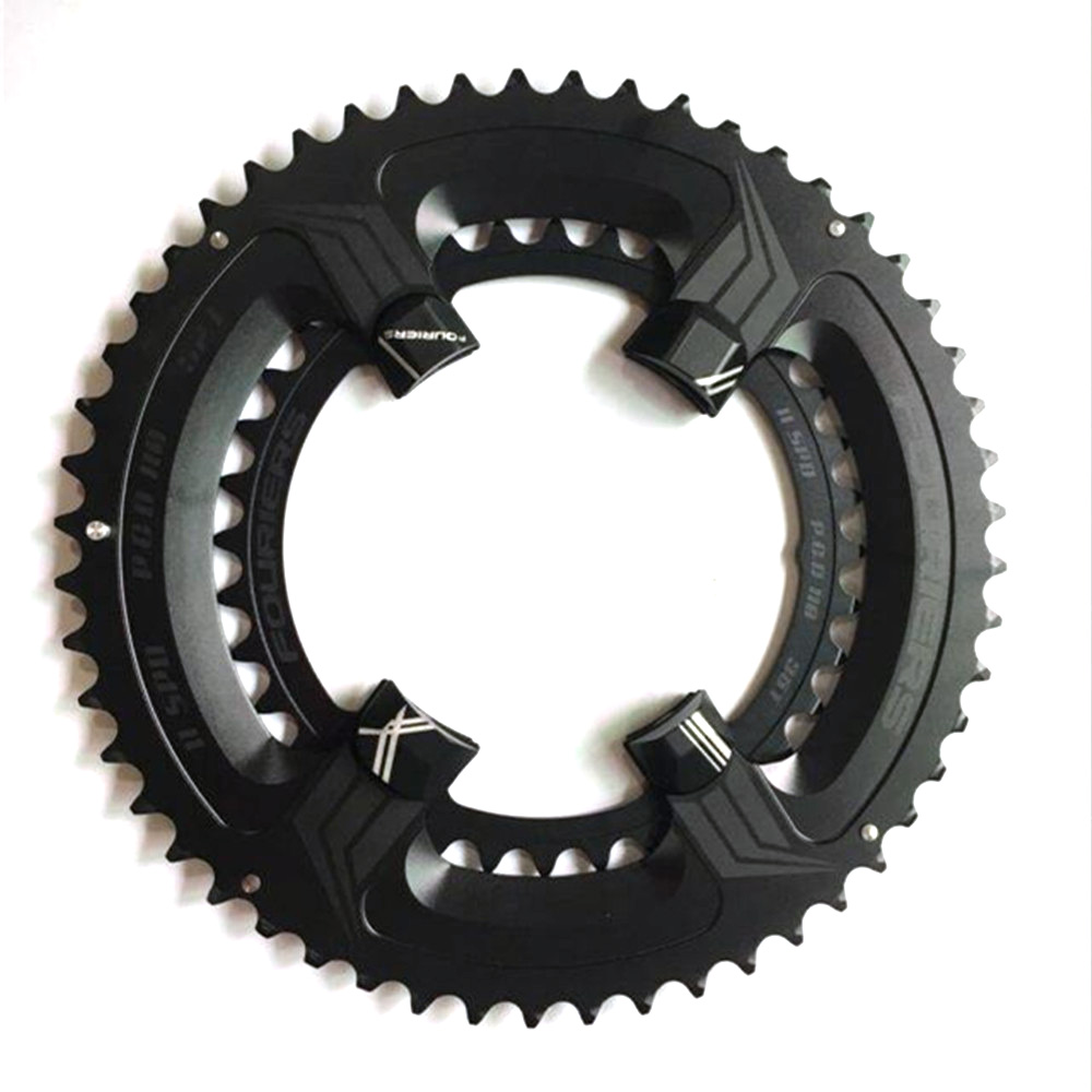 FOURIERS Road Bicycle Chainwheel 110BCD 50-34T/52-36T/53-39T Chain Wheel for Road Bike UTG 6800 fouriers road chain ring cr e1 dx5800 110 bcd chainring chainwheel gear road bicycle chain ring