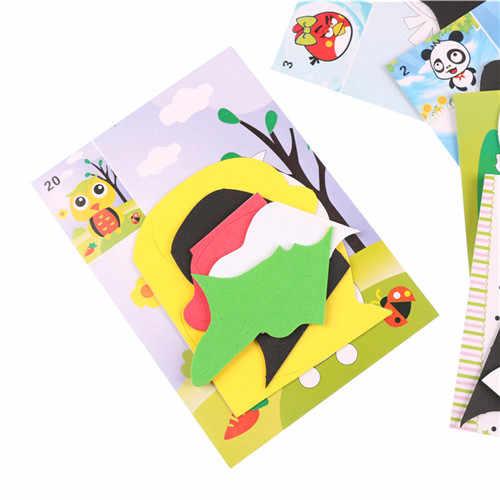 5 個 DIY 泡ステッカー漫画動物 3D Eva フォームステッカーパズル早期学習教育のおもちゃ