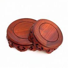 Redwood carving handicraft furnishing articles wooden Buddha vase household act the role ofing is tasted a circular base redwood carved wooden furnishing articles wooden red acid branch stone crafts special circular base