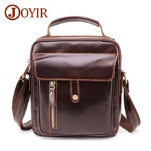JOYIR New Genuine Leather Crossbody Bag Design Mens Shoulder Fashion Male Messenger High Quality Handbag For Men