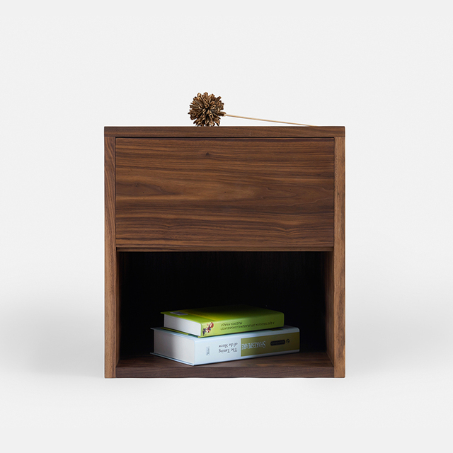 [new] Black Walnut And White Oak Wood Table Side Cabinet Cabinet Wood Wax  Environmental