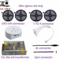 Highlight 5m 10m 15m 20m 60led M 5050smd Rgbww Led Strip Ufo Wifi Controller Led Power