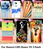 Soft TPU Hard plastic Painted Phone Cases For Huawei GR5 Honor 5X Honor Play 5X Mate 7 Mini 5.5 inch Cases Cover Back Housing