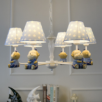 Nordic Monkey pendant Lamp for Bedroom Living room Children Kids room chandeliers lampe design Blue Pink girls room chandelier
