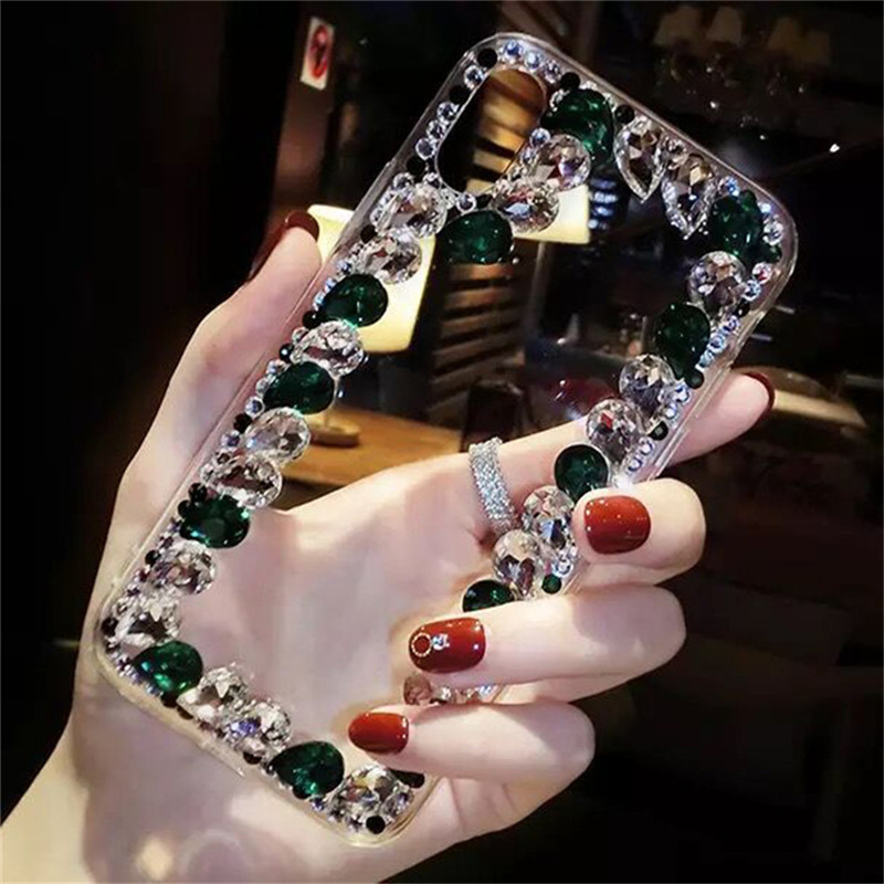Rhinestone Case For Huawei Honor 20 20i 20pro 8s 8x V9 Play 7X 7S 6A Pro V10 V20 9 10i 20Lite P Smart Z Cobar Handmade Diamond