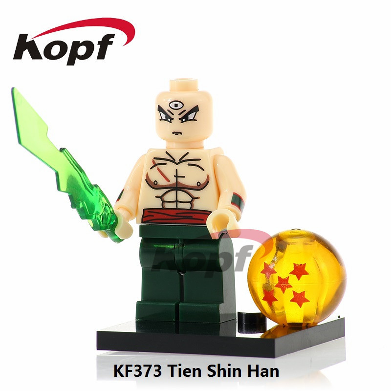 KF373 Dragon Ball Z Figures Super Heroes Tien Shin Han Goku Vegeta Perfect Cell Bricks Building Blocks Action Children Gift Toys