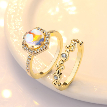 Exquisite Bridal Marriage Engagement Ring Shiny Silver Pure Natural Crystal Fire Opal Ring High Jewelry 1