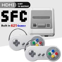 8 бит супер мини HDMI семейный ТВ SNES игровая консоль Ретро Классический HDMI HD выход ТВ Портативный игровой плеер встроенный 621 игры